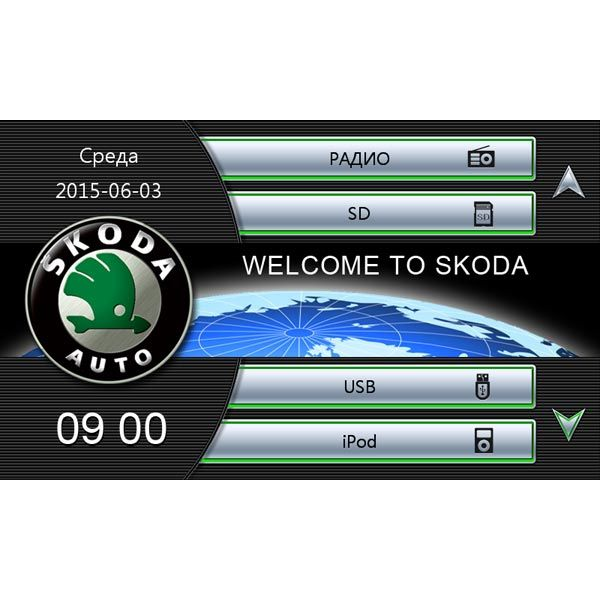 Штатная магнитола для Skoda Fabia, Octavia Tour, SuperB, Audiosources AS-410