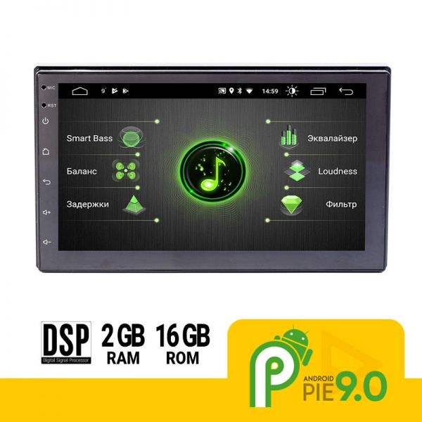 Автомагнитола 2DIN Phantom DVA-7009 Android 9, DSP